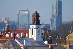 Panoramische Ansicht von Vilnius, Litauen Lizenzfreies Stockfoto