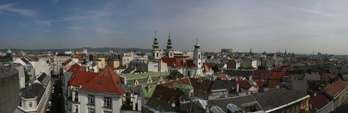 Panoramische Ansichten über Wien Lizenzfreies Stockbild