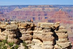 Panoramische Ansichten des Grand Canyon Stockfotografie