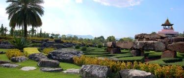 Panoramische asiatische traditionelle Landschaft Stockbild