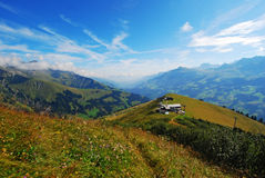 Panoramische Berne Alpen, die Schweiz Stockfotos