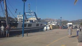 Panoramische Blauwe Hemel Spaanse Treiler Portside royalty-vrije stock foto