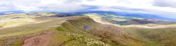 Panoramische Brecon Stock Foto's