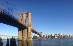 Panoramische Brookyln-Brücke stockfotografie