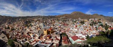 Panoramische cityscape van Guanajuato Mexico Stock Foto