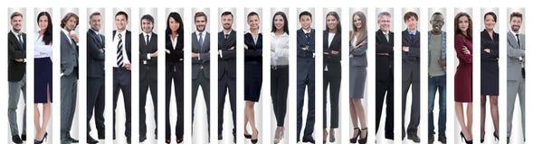 Panoramische Collage eines großen und erfolgreichen Geschäftsteams lizenzfreie stockfotos