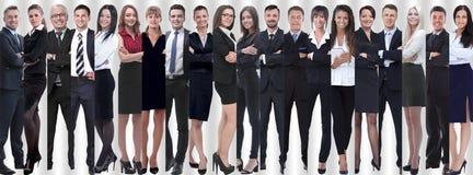 Panoramische Collage eines großen und erfolgreichen Geschäftsteams stockfotografie