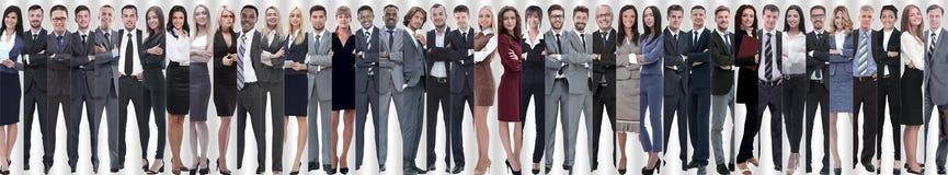Panoramische collage van een groot en succesvol commercieel team royalty-vrije stock foto's