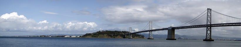 Panoramische de Brug van de Baai van San Francisco Royalty-vrije Stock Foto