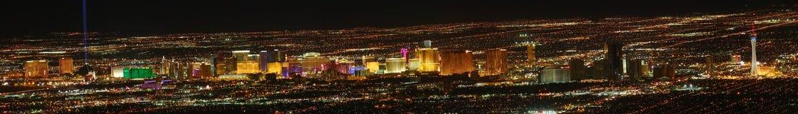 Panoramische de Strook van Vegas van Las Stock Afbeelding