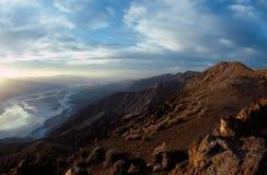 Panoramische de Vallei van de dood Stock Foto