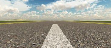 Panoramische de weg van het asfalt Stock Afbeeldingen