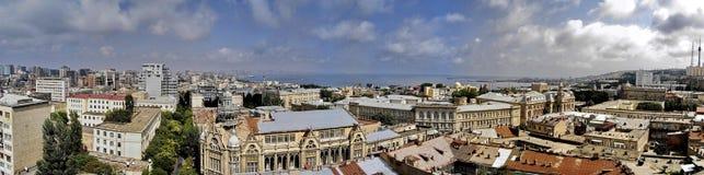 Panoramische foto van Baku in 2009 Royalty-vrije Stock Foto