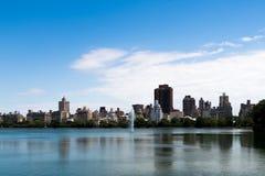 Panoramische foto van de horizon van Manhattan, skyscrappers, gebouwen Royalty-vrije Stock Foto