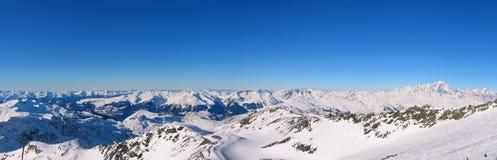 Panoramische französische Alpen Lizenzfreie Stockfotografie