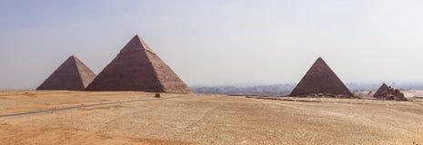 Panoramische Giza royalty-vrije stock foto's