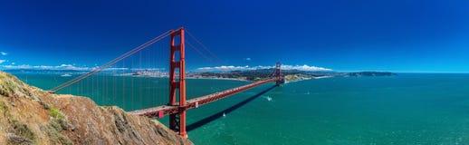 Panoramische grote die resolutie van Golden gate bridge in San Fra wordt geschoten royalty-vrije stock fotografie