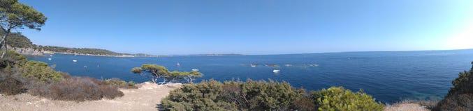 Panoramische Hafenkundenberaterinnen stockfotos
