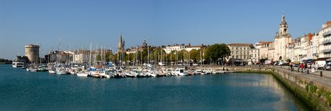 Panoramische haven van La Rochelle Stock Foto