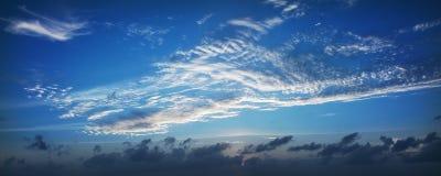 Panoramische hemel Royalty-vrije Stock Foto's
