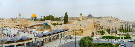 Panoramische het dakmening van Jeruzalem stock foto's