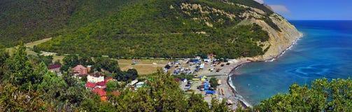 Panoramische het Strand van Durso Royalty-vrije Stock Afbeeldingen