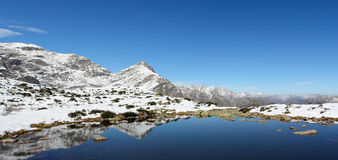 Panoramische hohe Berglandschaft Stockfotos