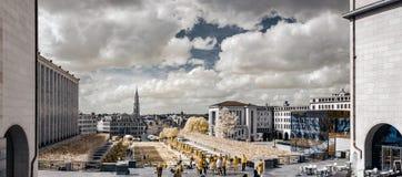 Panoramische infrarode mening van de straat van Brussel Royalty-vrije Stock Foto