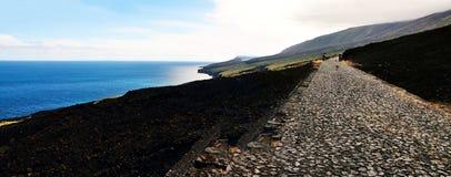 Panoramische Küstenlinie Lizenzfreies Stockfoto
