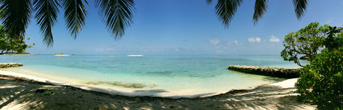 Panoramische Lagune Stockfoto