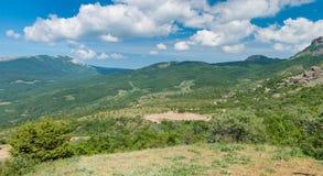 Panoramische Landschaft des Frühlinges Stockbild