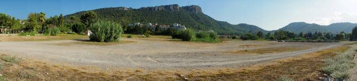 Panoramische Landschaft von Bergen Taurida Stockfoto