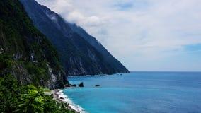 Panoramische Landschaft von Ozean Lizenzfreies Stockbild