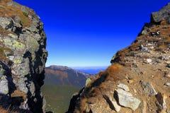 Panoramische Landschaftsansicht von Tatra-Bergen, nahe Zakopane in Polen stockbild