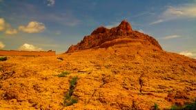 Panoramische landschapsmening aan de Sahel en oase, Dogondoutchi, Niger stock fotografie