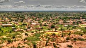 Panoramische landschapsmening aan de Sahel en oase, Dogondoutchi, Niger royalty-vrije stock fotografie