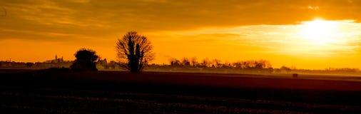 Panoramische landwirtschaftliche Landschaft Lizenzfreie Stockbilder