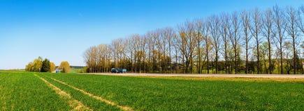Panoramische landwirtschaftliche Landschaft Stockfoto