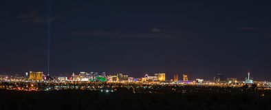 Panoramische Las Vegas-Skyline Lizenzfreies Stockfoto