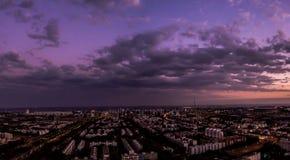 Panoramische luchtmening van het centrum van Brasilia Stock Foto