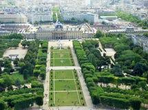Panoramische luchtmening van Parijs stock afbeelding