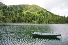 Panoramische meermening met boot Royalty-vrije Stock Afbeelding