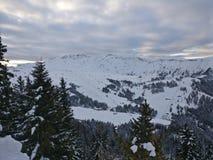 Panoramische mening Alpes stock foto