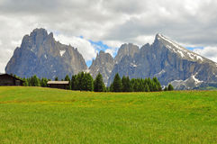 Panoramische mening Alpes royalty-vrije stock foto's