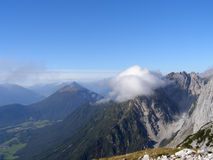 Panoramische mening Alpes Stock Foto's