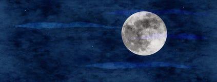 Panoramische moonscape royalty-vrije illustratie