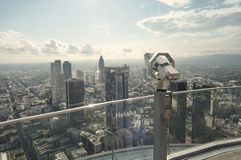 Panoramische photograh van Frankfurt-am-Main Stock Afbeeldingen