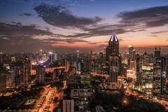 Panoramische Skyline von Shanghai Stockfotografie