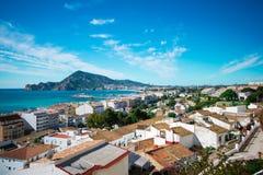 Panoramische stad van Altea, Spanje stock foto