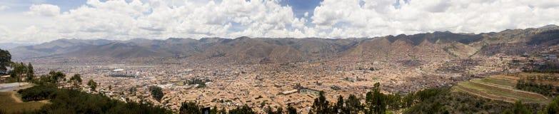Panoramische stad van Cuzco Peru Stock Foto's